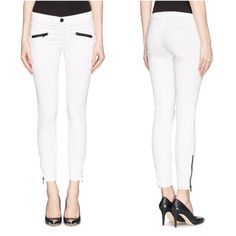 🎉Flash Sale 🎉 Current/Elliott Stiletto Skinny Master this new season's trend with the Current/Elliott the Soho Zip Stiletto coated mid-rise skinny jeans which can create a fashion-focused look that's made to be seen. Take your everyday looks to the next level! The white, polyester, cotton, elastane details deliver a feminine, on-trend finish. ♦️ Has 2 tiny spots, they r so unnoticeable that it's hard to even take a picture (#4). Might be washable, looks just like dust ♦️ 💕 Bundle 3 items…