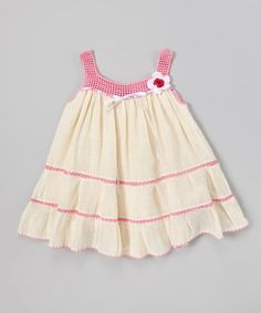 Another great find on #zulily! Natural Mia Ribbon Crochet Dress - Girls by Poppy Trends #zulilyfinds
