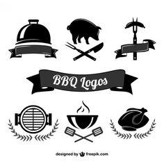 Logos de barbacoa Vector Gratis | https://lomejordelaweb.es/