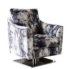 Islington Swivel Accent Chair, Oxidised Painterly Grey | Sofas | Living Room