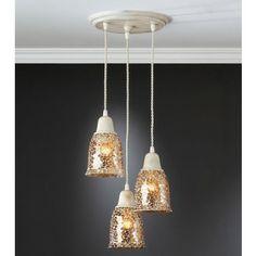 Lámpara Techo Clásica Lluvia Blanca #Ambar #Muebles #Deco #Interiorismo #Iluminacion   http://www.ambar-muebles.com/lampara-techo-clasica-lluvia-blanca.html