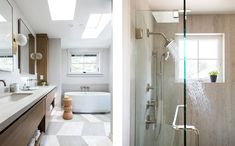 Natural materials, serenity in bathroom Mold In Bathroom, Steam Showers Bathroom, Master Bathrooms, Master Bedroom, Scandinavian Interior Doors, Bathroom Organisation, Modern Bathroom Design, Indoor Outdoor, Interior Decorating