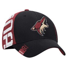 Arizona Coyotes Reebok 2016 NHL Draft Structured Flex Hat - Black Red 213851e4d