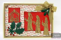 Crafter's Companion Classique Christmas Collection Three wise men Die, Nativity die Die`sire Holly, Kraft card, Softly falling A4 embossing folder Crafters Companion Christmas Cards, Religious Christmas Cards, Three Wise Men, Embossed Cards, Embossing Folder, Handmade Cards, I Card, Nativity, A4