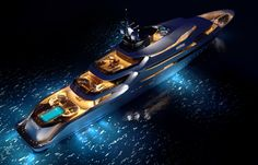 Oceanco Yacht, This Yacht Looks to Good at Night