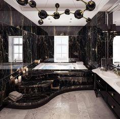 Luxury Bathroom Designs That You Love To Copy - House Interior Ideas bathroomdesigns Dream House Interior, Luxury Homes Dream Houses, Dream Home Design, Home Interior Design, Modern Mansion Interior, Luxury Interior, Luxury Home Decor, Gothic Interior, Beautiful Interior Design