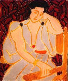 Matisse, Monique In A Gray Robe, 1942