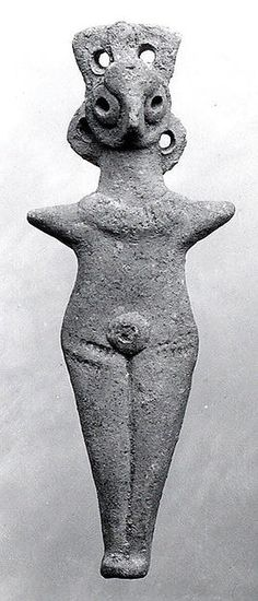 Nude female figure Period:Middle Bronze Age Date:ca. Geography:Levant Medium:Ceramic in. Ancient Egyptian Art, Ancient Aliens, Ancient History, Art History, European History, Ancient Greece, American History, Ancient Goddesses, Art Ancien