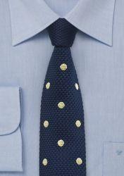Strick-Krawatte nachtblau Punkte goldgelb günstig kaufen