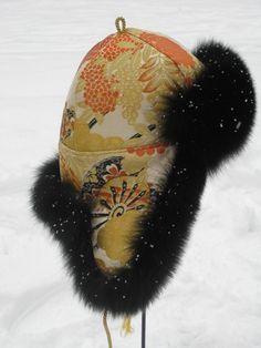 Model Tibet, Fur hat inspired from the Silk Road. Handmade by Jane Eberlein. Copenhagen. Denmark. www.samarkand.dk