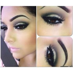 Love the black, gray, white smokey eye