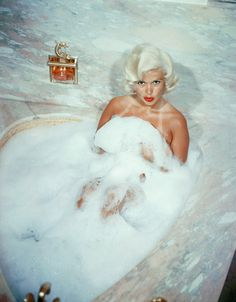 "Jayne Mansfield. Born in Bryn Mawr, Pennsylvania in 1933. Actress. Most Famous Works: ""The Girl Can't Help It"" (1956), ""Kiss Them For Me"" (1957). Mariska Hargitay from Law and Order S.V.U is her daughter. Lived in the fabulous Pink Palace."