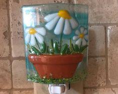 Pot of Daisies night light