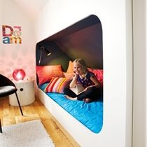Built in bed:  This would be a great space saver if I can figure out a way to do it!