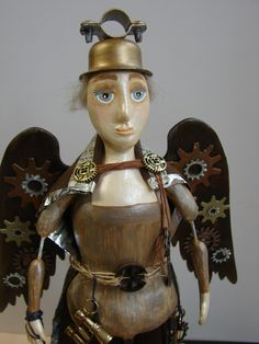 Steampunk Santos Cage Doll created by Karen Furst of Trilby Works