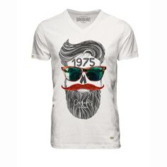 T-shirt skunny estampada, decote em v, Jack & Jones | La Redoute