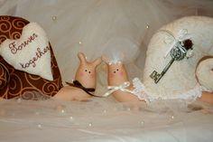 Süßes Brautpaar! Tilda Schnecken! von In my world... auf DaWanda.com