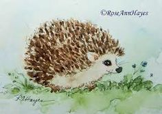 hedgehogs paintings - Google Search