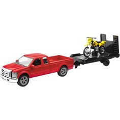 New Ray Red Ford F250 with Trailer and Suzuki Bike Replica Truck Toy - 1:43 Scale New Ray Toys http://www.amazon.com/dp/B0076R602M/ref=cm_sw_r_pi_dp_N5xiub036AMNQ