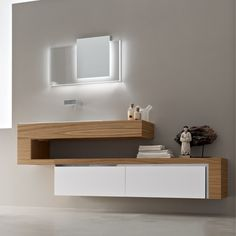 these vanities let the flooring extend all the way to the wall and give the room a more open feelingphoto of a contemporary bathroom in san francisco with bathroom furniture ideas