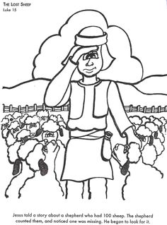 Help Your Childrens To Learn Bible Stories With Coloring Pages Choose The Lost Sheep