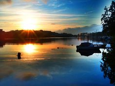 Beautiful morning in Kristiansand, Norway - where my Grandfather was born...