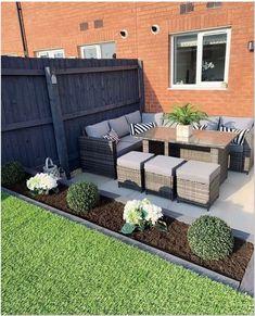 Back Garden Design, Small Backyard Design, Modern Garden Design, Backyard Patio Designs, Small Backyard Landscaping, Pergola Patio, Backyard Ideas, Small Patio, Big Backyard