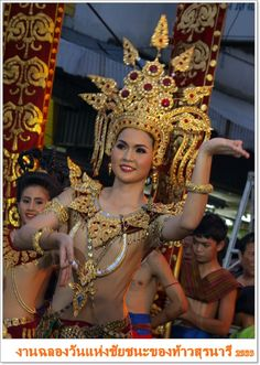Beautiful Thai dancer. Korat Thailand.