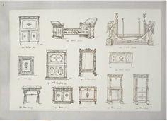 Gravure meubles anciens