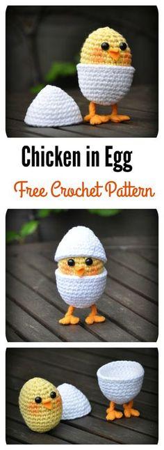 Chicken in Egg Free Crochet Pattern