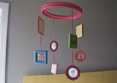 Frame mobile - so cute! #frames #mobile