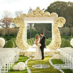 Wedding decoration (reception stage or sitting center can be decorated like this)