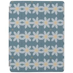 Nice white flower on blue background giving it a cool and trendy looks to decorative your product. You can also Customized it to get a more personally looks. Ipad 1, Ipad Case, Blue Backgrounds, Flower Patterns, White Flowers, Kids Rugs, Cool Stuff, Abstract Pattern, Cover