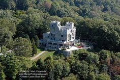 East Haddam, CT - Gillette Castle State Park.  The castle was originally a private residence commissioned and designed by William Gillette, an American actor who is most famous for his portrayal of Sherlock Holmes on stage.  The park features hiking, picnicking, river vista view, river camping, concessions, gift shop and castle tours.