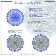 Céleste: le schéma - Mes bijoux en perles