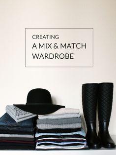 Creating a mix & match wardrobe.