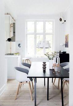 Fichajes deco: Decoración en blanco, negro y un toque de cobre   Decorar tu casa es facilisimo.com
