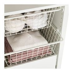 "KOMPLEMENT Wire basket with pull-out rail - white, 19 5/8x22 7/8 "" - IKEA"