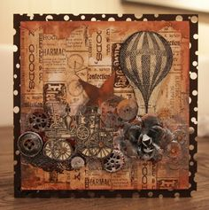 Steampunk card...love it!