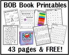 BOB Books ~ sight word printables