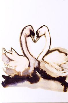 love birds original drawing by metamorphosing on Etsy, £25.00