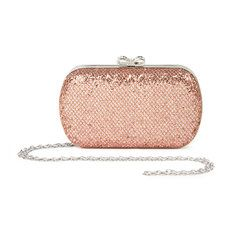 This Rose Gold Glitter Clutch is a perfect compliment to any prom gown!