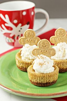 Recipe for individual gingerbread cheesecakes. With a gingersnap crust and a creamy cheesecake filling packed with just the right amount of spice.