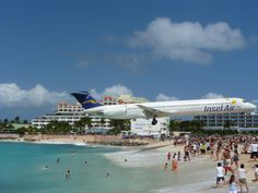 Photo taken while in St. Maarten at Maho Beach. Princess Juliana Airport is one of the world's scariest airport for landings.