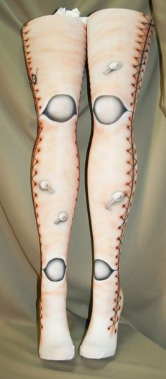 Voodoo doll ball joint tights custom made for you by beadborg