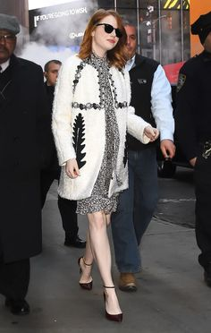 Emma Stone is the definition of winter style goals in this coat — get the details!