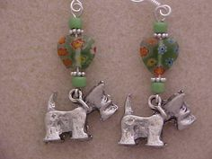 Scotty Dog Scotch Terrier Charm Earrings by FunCharmedJewelryII, $9.95