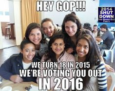 You go girls! ~ Woohoo! You go girls! Show them what real democracy is! Young people are the antidote to these crazy conservatives.