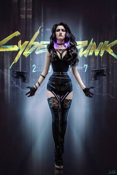 This Cyberpunk Yennefer Cosplay by Dante Heks is Incredible! Cyberpunk 2077, Mode Cyberpunk, Cyberpunk Kunst, Cyberpunk Aesthetic, Cyberpunk Girl, Cyberpunk Fashion, Yennefer Cosplay, Witcher Wallpaper, Character Concept