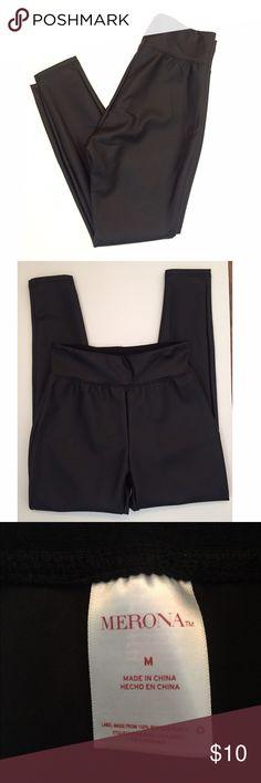 NWOT Merona Faux Leather Leggings Never worn black faux leather leggings. Merona Pants Leggings